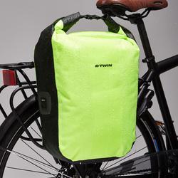 Fahrradtasche Gepäcktasche 500 wasserdicht 20 Liter neongelb