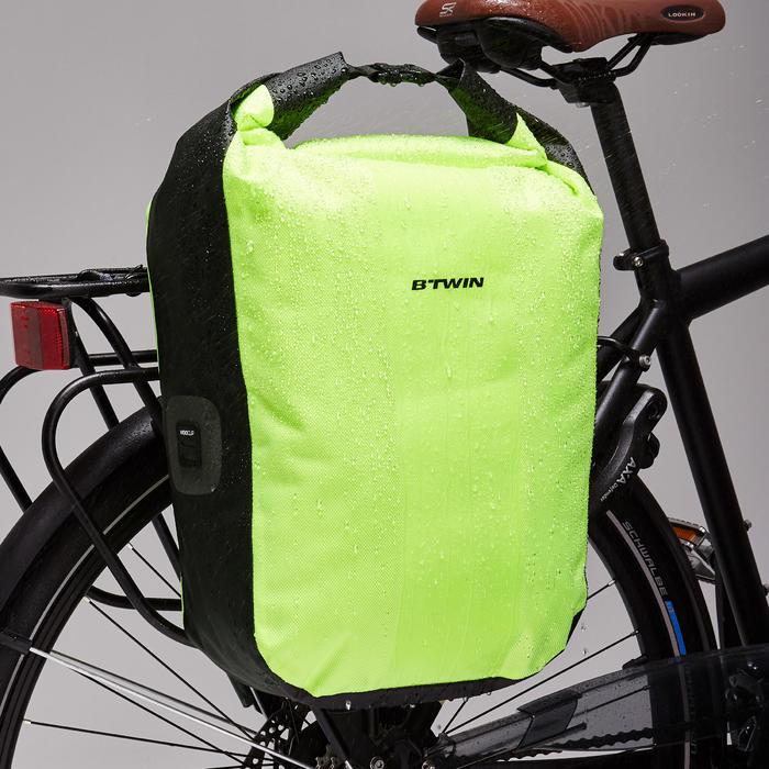 Fahrradtasche Gepäcktasche Trekking Bike Bag 500 wasserdicht 20 Liter neongelb