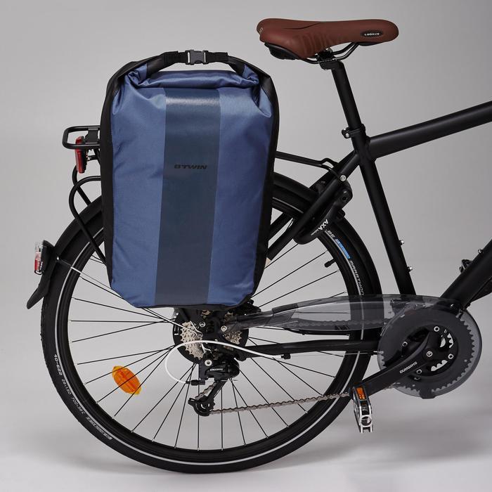 b 39 twin sacoche velo 500 sur porte bagages 500 20l impermeable decathlon. Black Bedroom Furniture Sets. Home Design Ideas