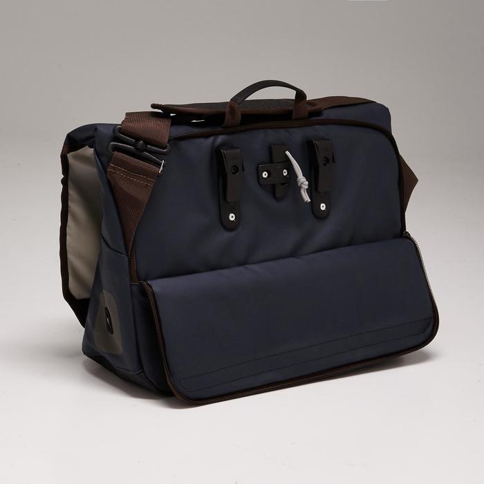 Fahrradtasche Businessbag 500 15Liter blau/braun