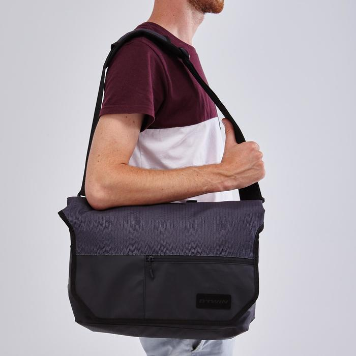 1 x 15L Bike Messenger Bag 500 - Black