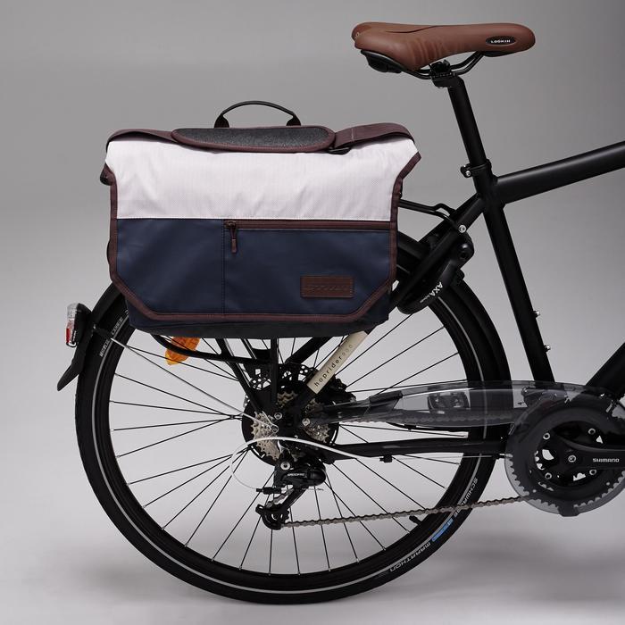 Fahrradtasche Business Bag 500 15Liter blau/beige