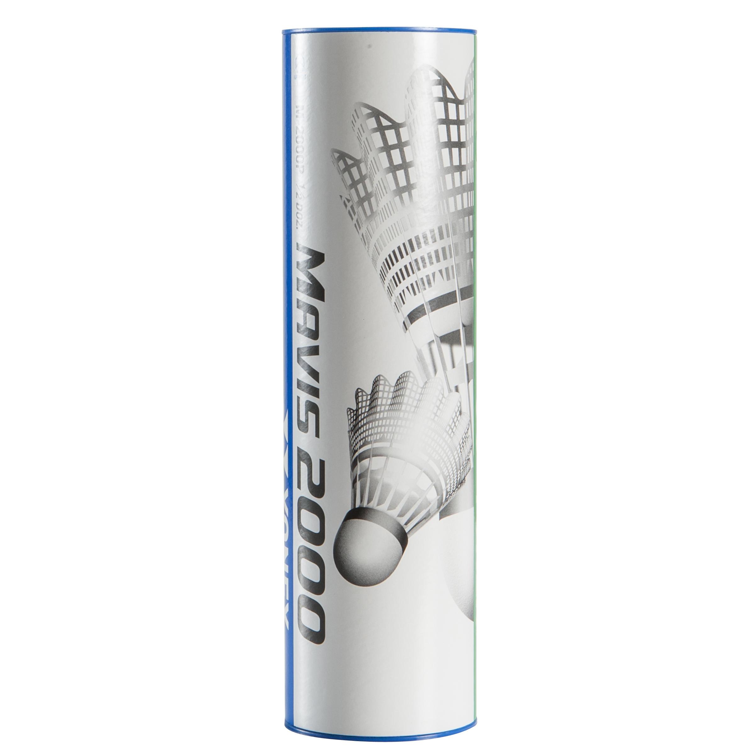 Yonex Badmintonshuttle Mavis 2000 wit set van 6