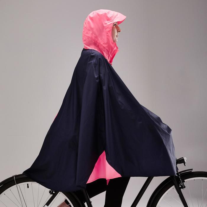 Fahrrad-Regenponcho City 500 blau/rosa