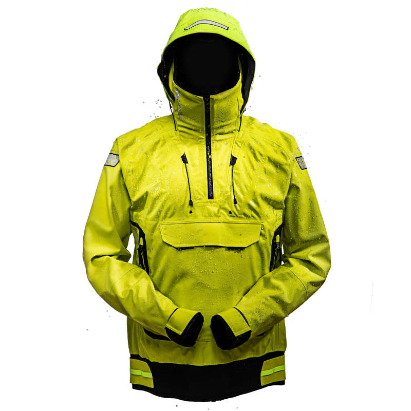 REGATTA RAINY WEATHER MAN CLOTHES Sailing - Men's Jacket Offshore Yellow TRIBORD - Sailing Clothing
