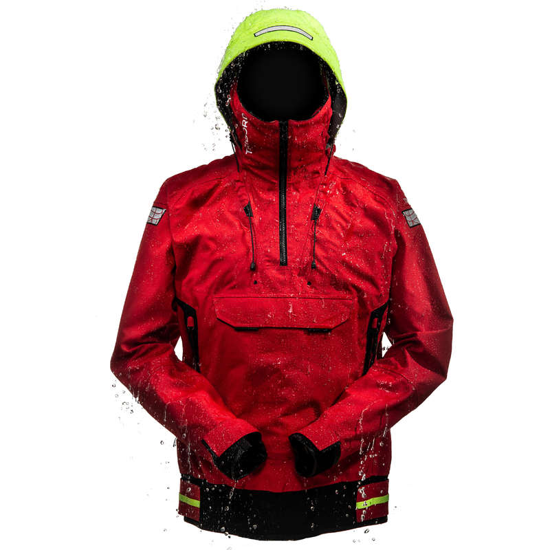 REGATTA RAINY WEATHER MAN CLOTHES Sailing - Men's Jacket Offshore - Red TRIBORD - Sailing Clothing