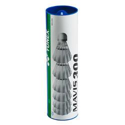 Badmintonshuttles Mavix 200 wit set van 6