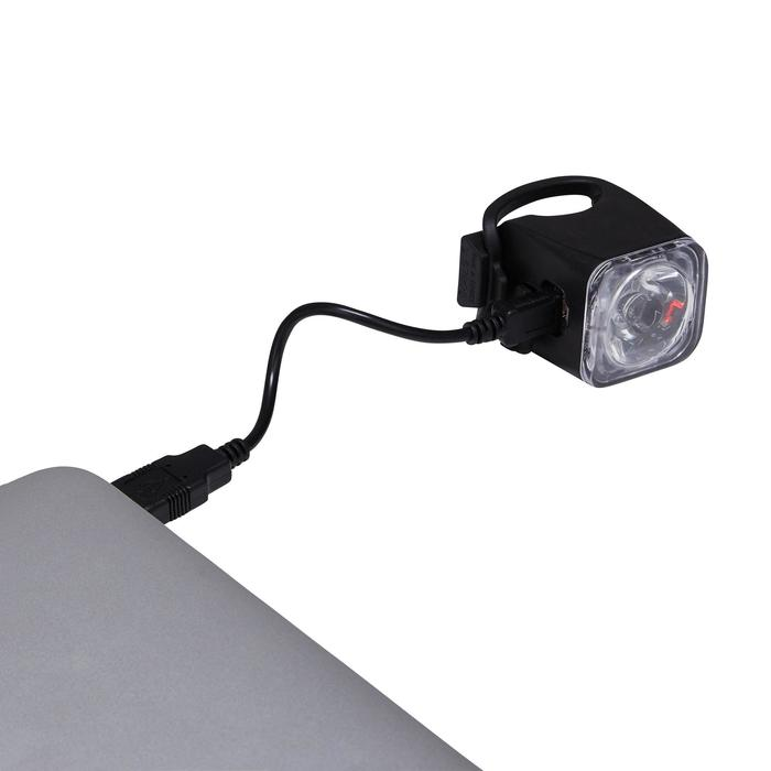 beleuchtungsset fahrradbeleuchtung front r cklicht vioo 500 usb road b 39 twin decathlon. Black Bedroom Furniture Sets. Home Design Ideas