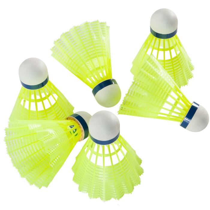 VOLANTS DE BADMINTON MAVIS 300 JAUNE LOT DE 6