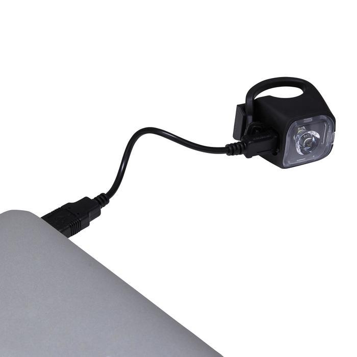 FOCO LED BICICLETA CIUDAD VIOO 500 DELANTERO/TRASERO NEGRO USB