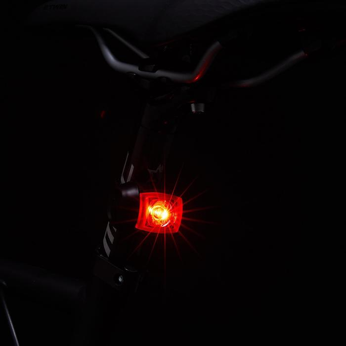 CONJUNTO LUZES LED USB FRENTE/TRÁS BICICLETA ST 520 PRETO