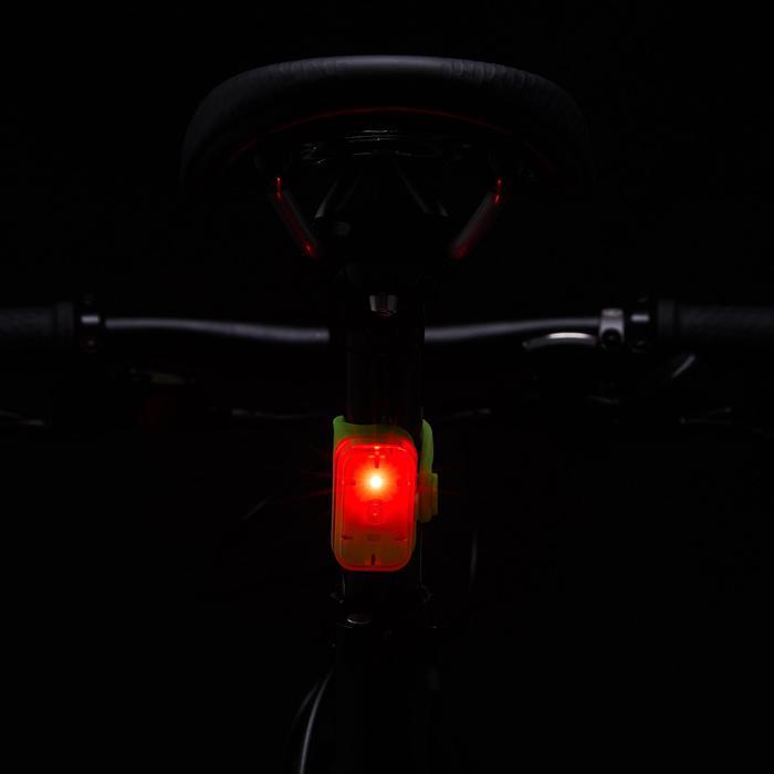 Fietsverlichting op led CL 500 voor- en achteraan geel USB Vioo Clip