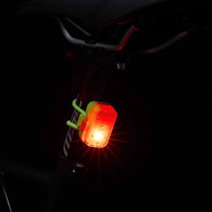 Verlichtingsset voor-/achterlicht Vioo Clip 500 groen USB