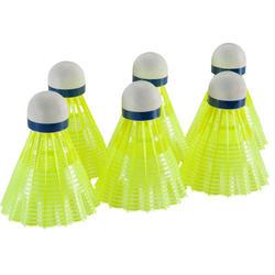 Badmintonshuttles Mavis 300 geel set van 6 - 151565