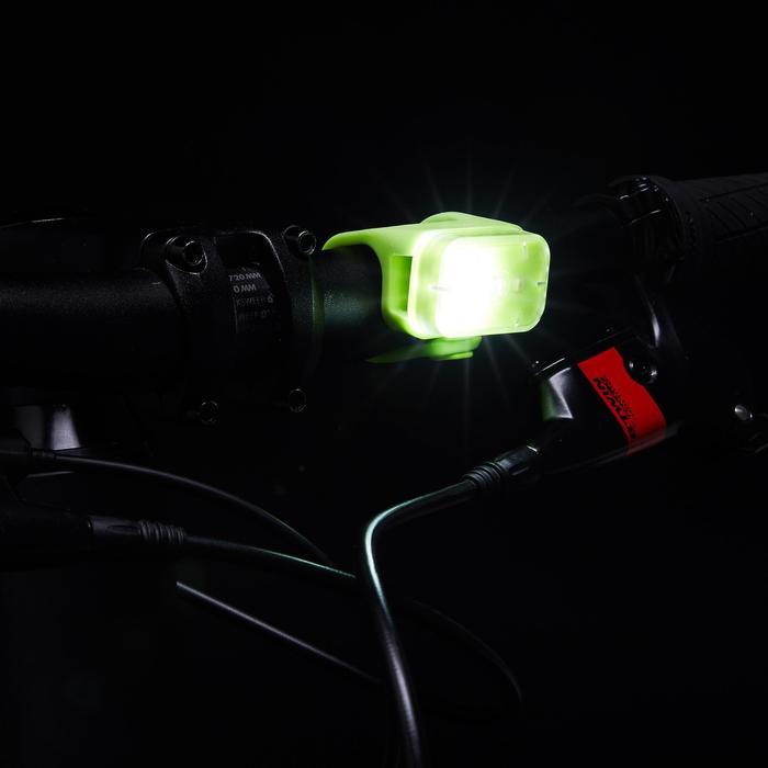 Led fietslamp voor/achter usb CL 500 geel