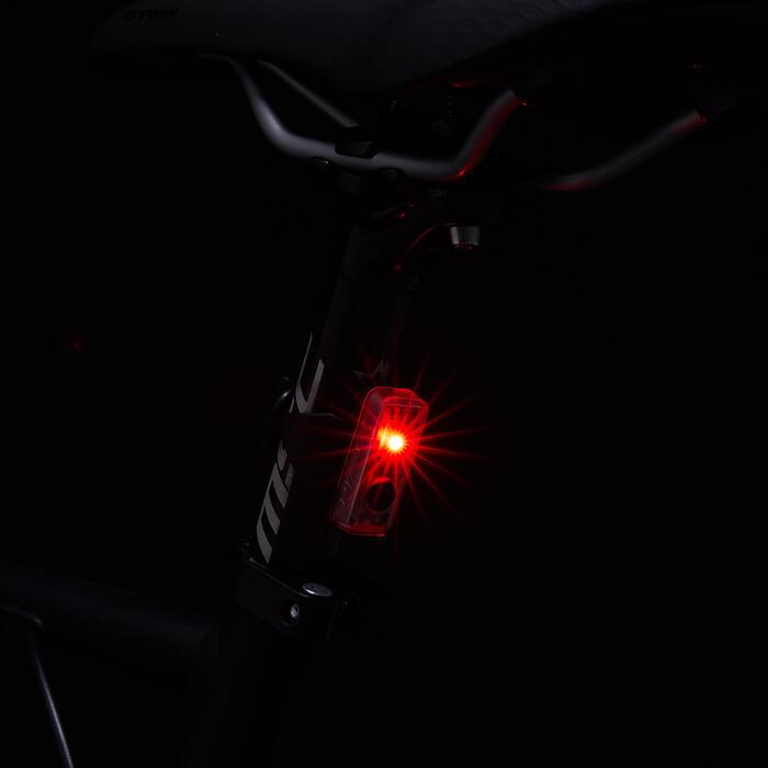 B\'twin Led bij-verlichting voor fiets Vioo Clip 100 USB | Decathlon.nl