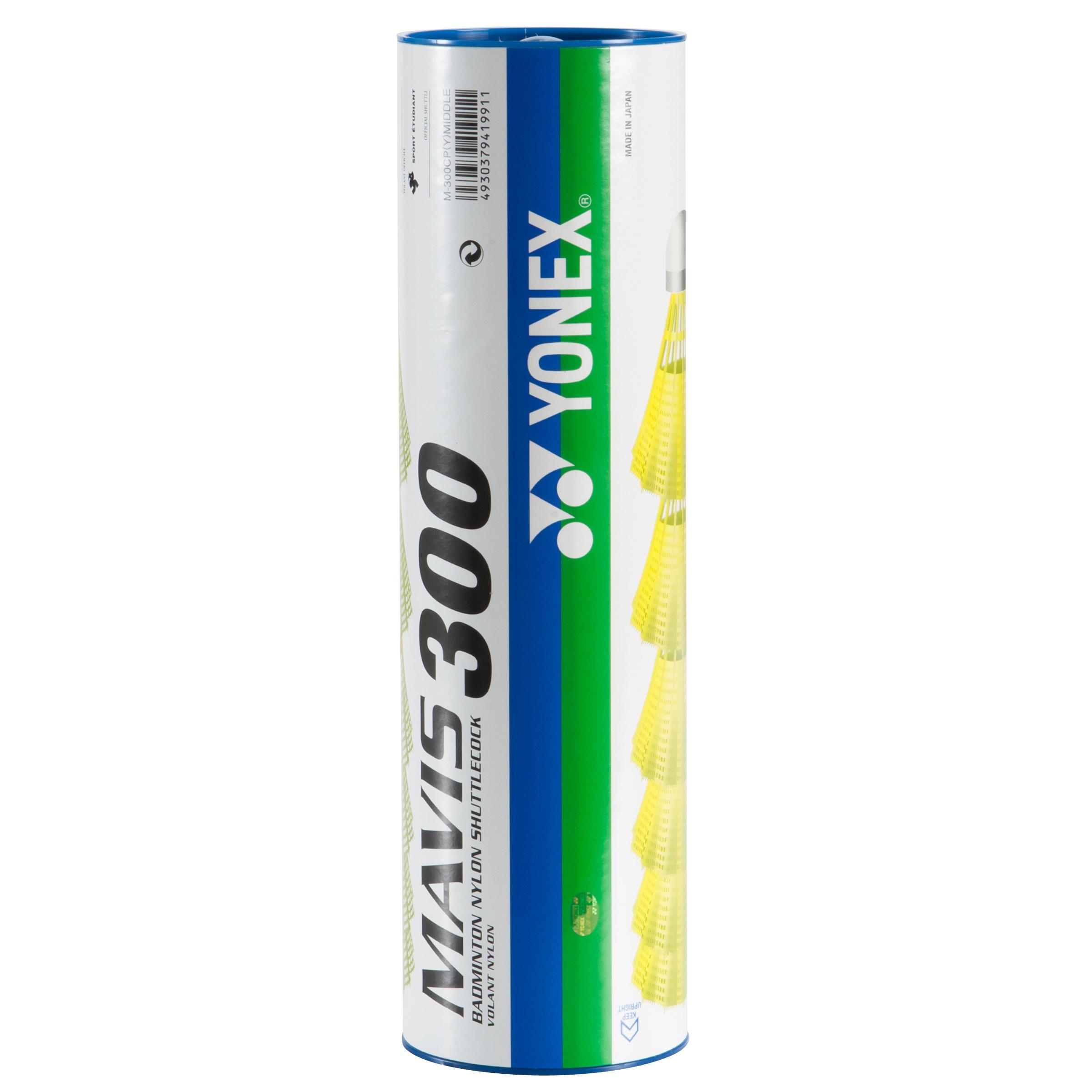 Yonex Badmintonshuttles Mavis 300 geel set van 6