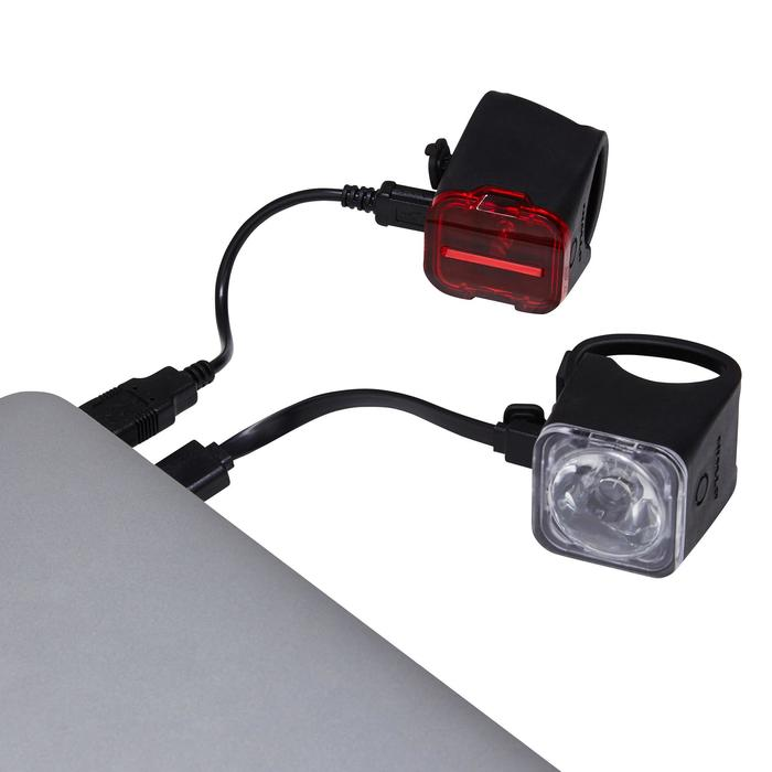 Fietslampjes set voor/achter usb ST 540