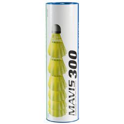 Badmintonshuttles Mavis 300 geel set van 6 - 151567