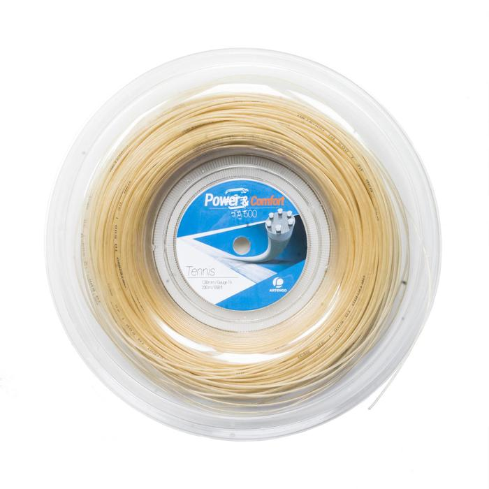 CORDAGE DE TENNIS MULTIFILAMENTS TA 800 1,3mm BEIGE 200m