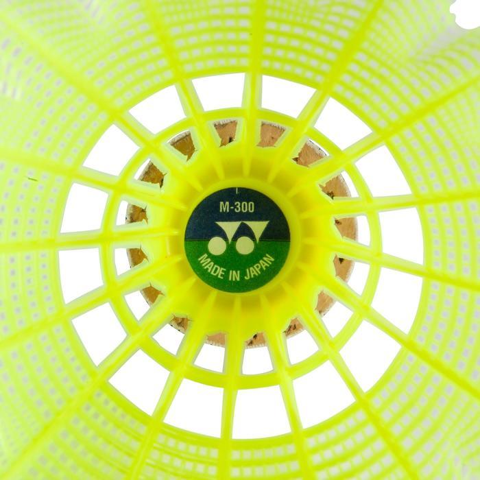 VOLANTS DE BADMINTON EN PLASTIQUE MAVIS 300 x 6 - Jaune