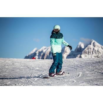 Botas de snowboard, todo terreno, mujer, Maoke 300 - Fast Lock 2Z, blanco