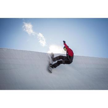 Snowboardjacke Coachjacke Herren bordeaux
