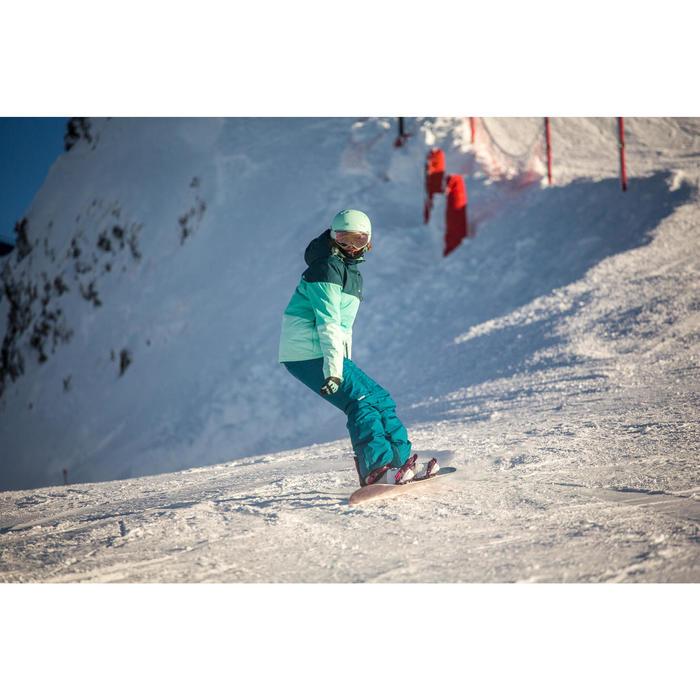 Snowboard- en ski-jas voor dames SNB JKT 100 donker petrol