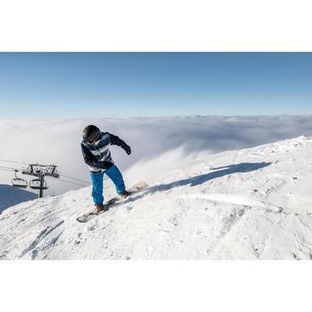Ski- en snowboardjas SNB JKT 100 voor heren print blauw