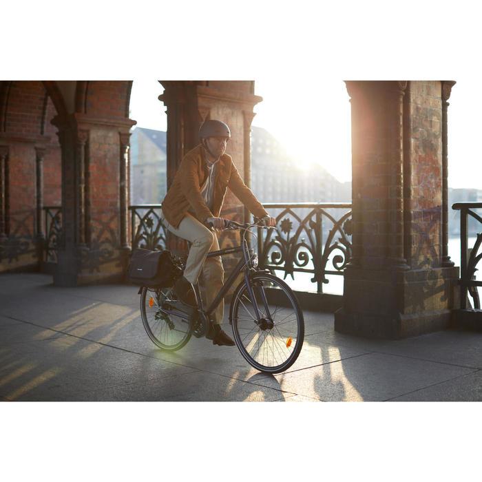 Sportieve stadsfiets dames Hoprider 100 laag frame blauw