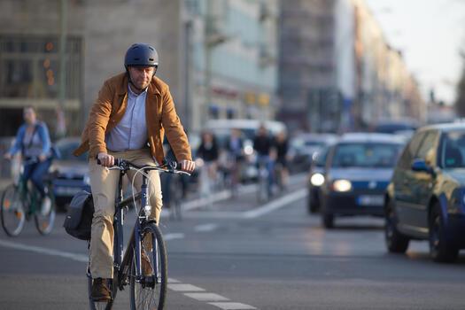 Stadsfiets voor lange afstanden Hoprider 100 hoog frame Hybride fiets