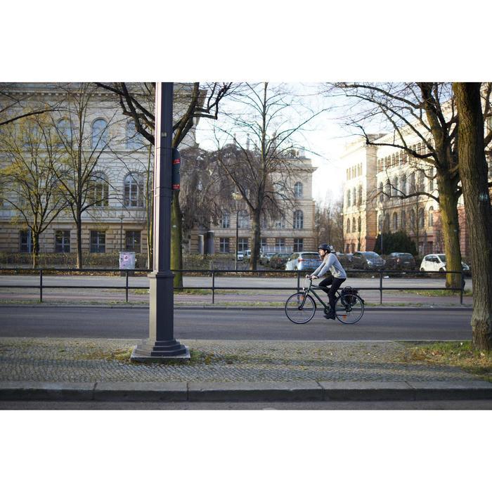 Sportieve stadsfiets dames Hoprider 500 laag frame paars