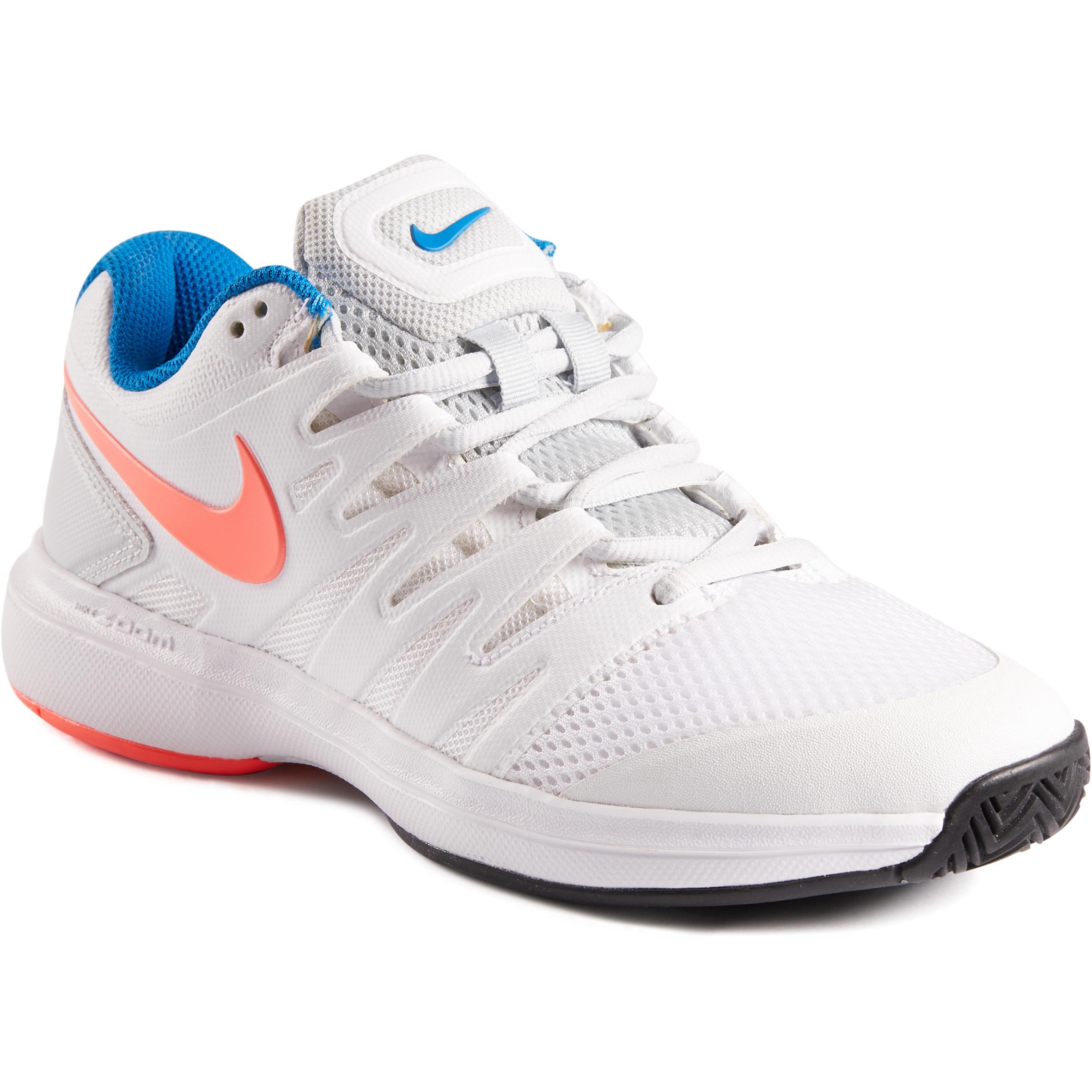 Chaussures de tennis femme zoom prestige blanche rose nike