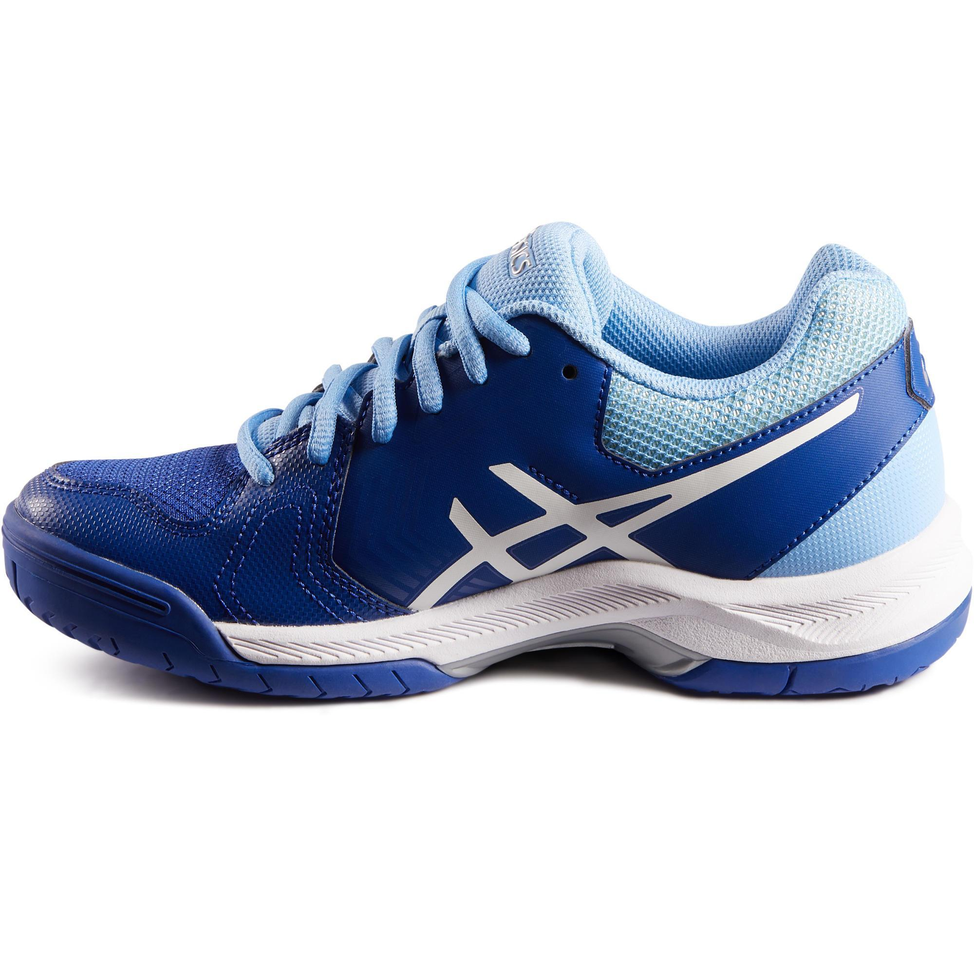 low priced 91a05 0e4fc Chaussure Tennis Asics Femme Dedicate Bleue De Gel Decathlon T6pnpqOdwW