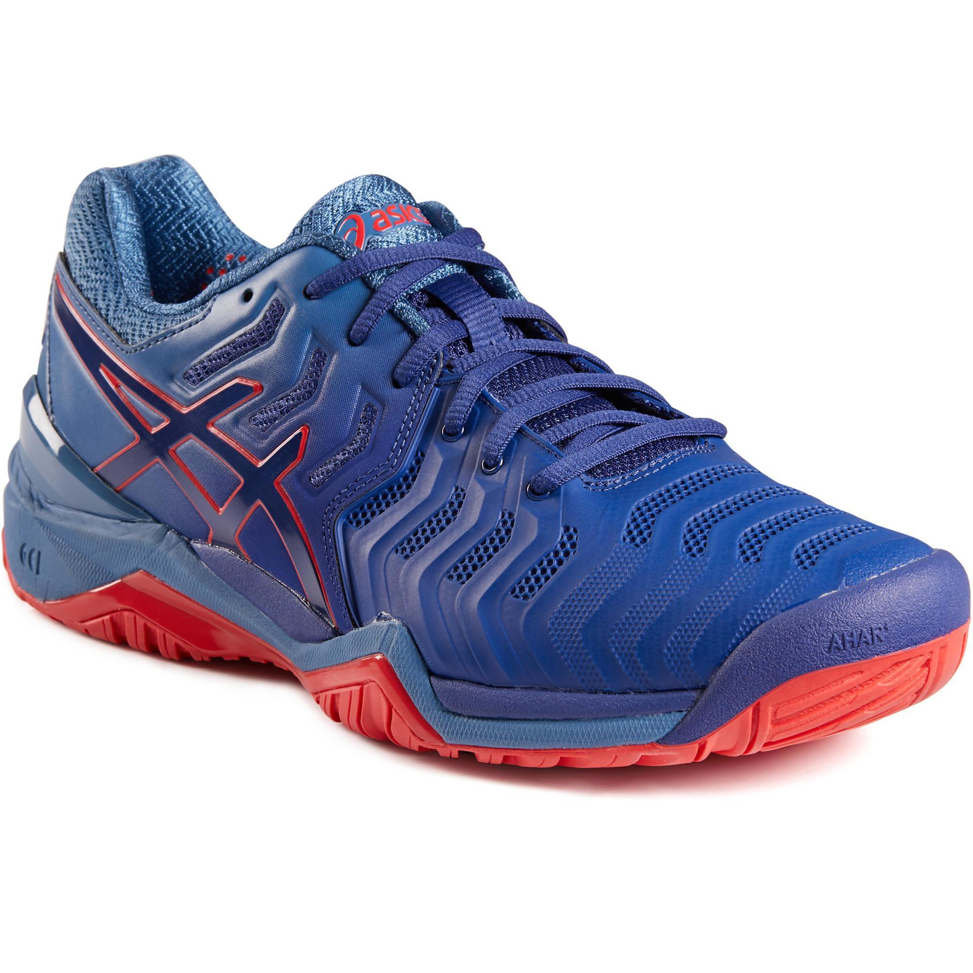 Asics Tennisschoenen heren Gel Resolution 7 grijs multicourt