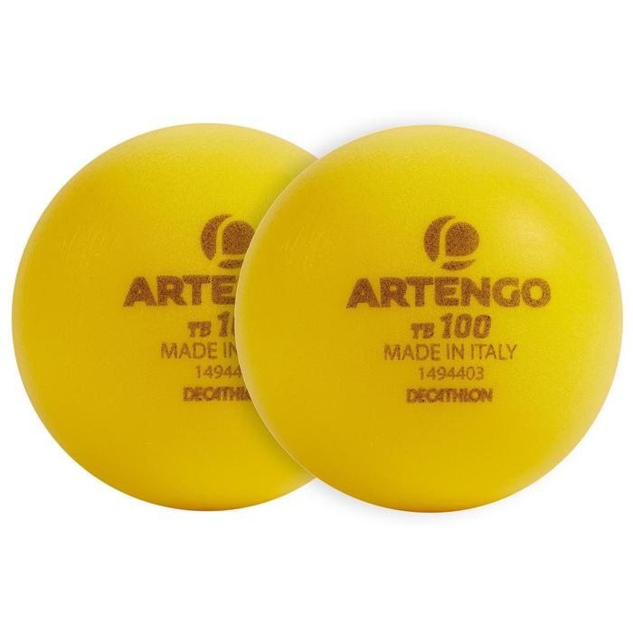 Foam Tennis Ball Twin-Pack TB100 - Yellow