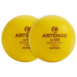 Tennisbal van schuim TB100 2 stuks geel