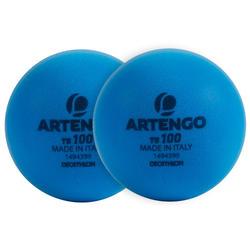 Tennisbal TB100 schuim blauw x2