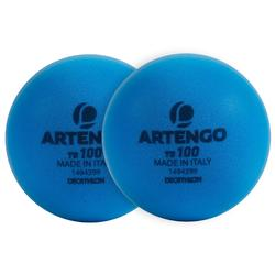 Tennisbal van schuim TB100 2 stuks blauw