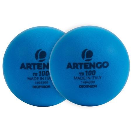 TB100 Foam Tennis Ball Twin-Pack - Biru