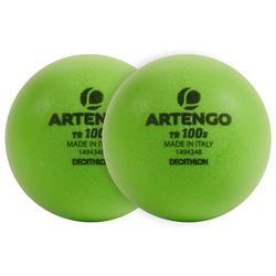 Tennisbal van schuim TB100 groen 2 stuks S