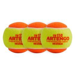 Tennisbälle Einzeln 110 ×3 orange
