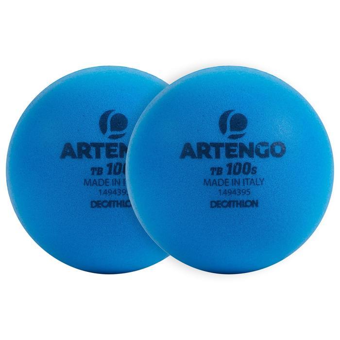 Tennisbal van schuim TB100 2 stuks blauw S