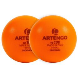 2入泡棉練習網球TB 100-橘色