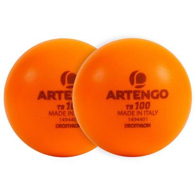 Тенісний м'яч з піноматеріалу TB100, 2 шт. - Помаранчевий