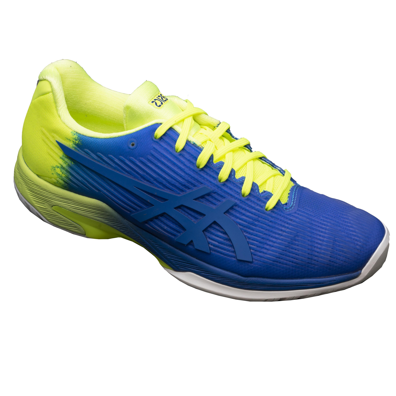 Asics Tennisschoenen heren Gel Solution Speed 3 blauw geel multicourt