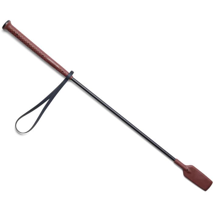 Cravache équitation 500 bordeaux et marine - 58 cm