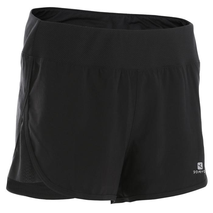 女款有氧健身短褲Loose-Fit 500-黑色