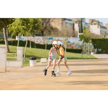 Rolschaatsen 100 voor kinderen wit holographic