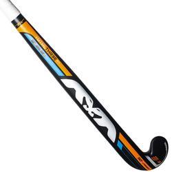 Stick de hockey sur gazon adulte confirmé lowbow 50% carbone Tot3.3 noir+orange